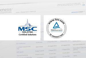 Evenesis is now a Certified Solution by MSC & TUV Rheinland