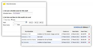 Evenesis Email Scheduler