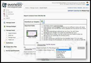 Introducing the New Import Contact by Group in Evenesis