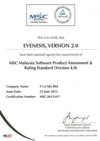 MSC Certified Solution (TUV Rheinland)