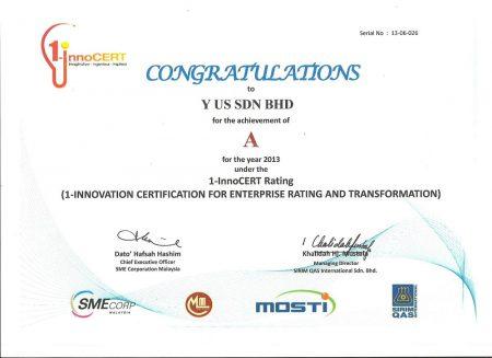 Innovation Certification for Enterprise Rating