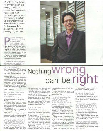Pillars, Malaysia SME (Issue June 2 – June 15 2012)