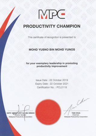 MPC Productivity Champion Oct 2019